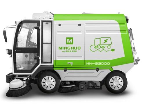 大型纯吸电动扫路车MN-S3000正面图